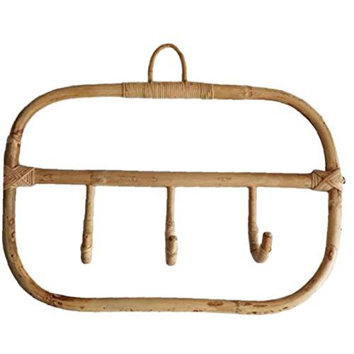 Ratán Ganchillo Cloth Holder, Ganchos de Pared Perchero Pared del Sitio de Sombrero Que cuelga Arte Hecho a Mano en Rack para el hogar, Hotel
