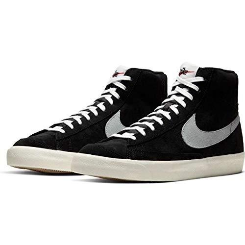 Nike Blazer Mid '77 Suede Uomo Unisex Black/Pure Platinum-Sail-White CW2371 001 (Numeric_45)