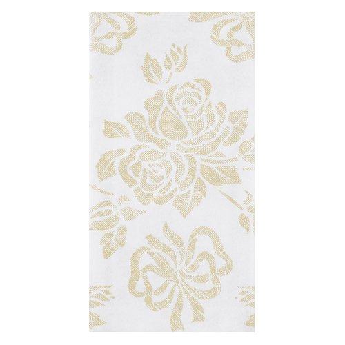 "Hoffmaster 856520 Linen-Like Guest Towel, 1/6 Fold, 17"" Length x 12"" Width, Gold Prestige (Case of 500)"
