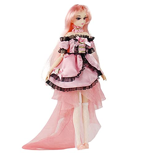 YZDKJDZ Muñeca BJD 1/6 SD muñeca 12 articulaciones muñecas Cherry Pink Series...