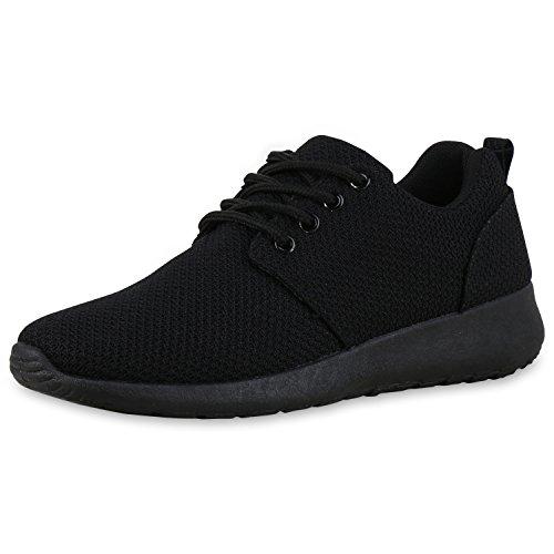 SCARPE VITA Damen Sportschuhe Laufschuhe Runners Sneakers Schuhe 160480 Schwarz Schwarz 38