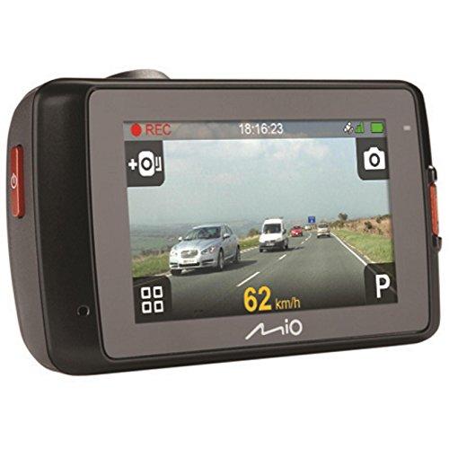 Mio MiVue 638 Touch Dashcam Videokamera für Auto mit Touchscreen, Radar-Warnung, GPS-Funktion, 140 Grad Weitwinkelkamera, 3-Achsen-G-Sensor, Parkmodus & Fotomodus