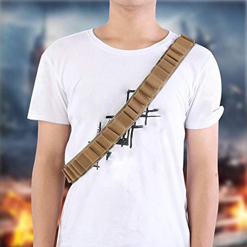 KUIDAMOS Juego de Disfraces de Bandido Duradero, Soporte de munición de Bala, cinturón de Cartucho, Ideal para propietarios de escopetas y Rifles(Khaki)