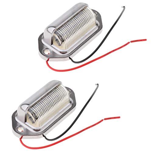 prasku Lámpara de Luz de Matrícula con Número LED de 2x 24 V para Remolque de Camión de Barco de Coche