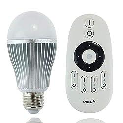 LIGHTEU, 9W E27 dual weiße WLAN-Fernbedienung LED-Glühlampe - Dual weiss Dimmbar mit einer WLAN-Fernbedienung