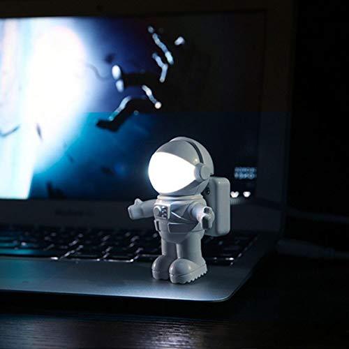 Nieuwe Stijl Cool Nieuwe Astronaut Spaceman Usb Led Verstelbaar Nachtlampje Voor Computer Pc Lamp Bureaulamp Zuiver Wit