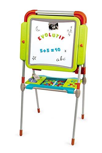 Smoby 410205 Tableau Evolutif Evolution Metalltafel, höhenverstellbar, Magnettafel, für Kinder ab 3 Jahren, Mehrfarbig