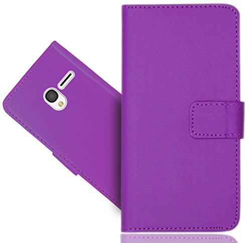 FoneExpert® Alcatel Pixi 3 (4.0 inch) Handy Tasche, Wallet Case Flip Cover Hüllen Etui Hülle Ledertasche Lederhülle Schutzhülle Für Alcatel Pixi 3 (4.0 inch)