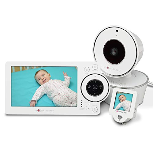"Project Nursery 5"" HD Baby Monitor Deluxe System with 1.5"" Mini Monitor Sleep Soothers"