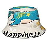 LOUIS ROBSON Unisex Breathable Bucket Hat Believing Unicorns Summer Fisherman Cap Wide Brim Uv Protection for Women Men Boys Girls