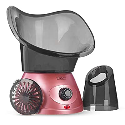LIVIVO Facial Face Spa Steamer Inhaler With Aromatherapy Diffuser 'Herb Grill' and Dual Nose-Cones Kit Set - Ideal To Use on Open Pores For Removal of Dirt Acne Pimples etc (Rose Gold) from LIVIVO