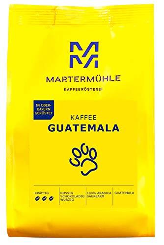Martermühle I Kaffee Guatemala I Kaffee ganze Bohnen I Premium Kaffeebohnen aus Guatemala I Schonend geröstete Kaffeebohnen I Kaffeebohnen säurearm I 100% Arabica Kaffeebohnen I 1kg