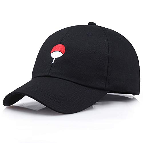 Yangzhoujinbei Exquisite Life Essentials Unisex Anime Naruto Akatsuki Logo Baseball Cap verstellbar Trucker Hat, Herren, BK