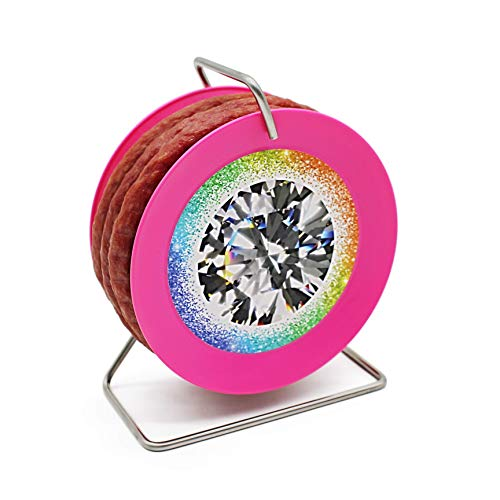 Snack Wurst auf pinker Mini-Kabeltrommel - Modell Diamant - 3,5 Meter nach Krakauer Art 240 g