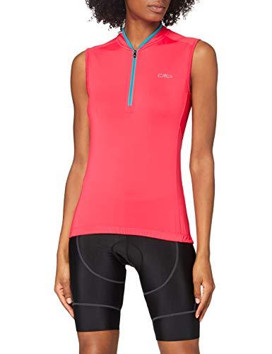 CMP T-Shirt Smanicata Stretch da Ciclismo, Donna, Gloss, D36