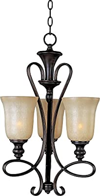 Maxim Lighting 21304WSOI, Infinity 3 Light Chandelier, Oil Rubbed Bronze