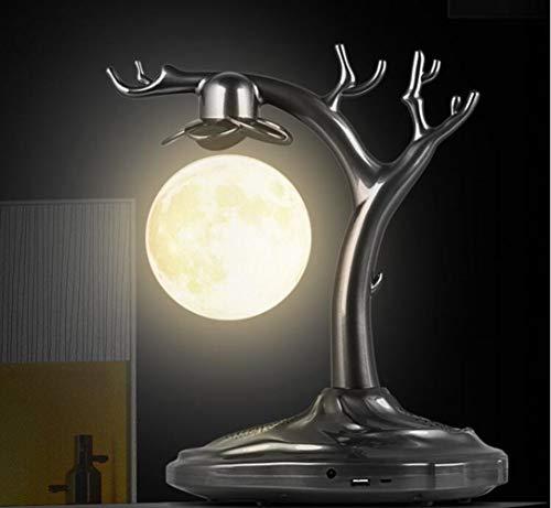 Yajun Schwebender Levitation Freischwebender Lautsprecher Wireless Bluetooth Audio 3D Mondlichter Mingyue Alter Baum Kreativer Geburtstag Valentinstag Mittherbstfest Geschenk,A