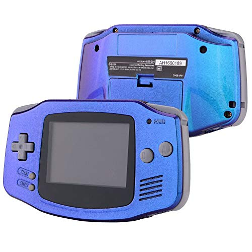 eXtremeRate Chameleon Purple Blue GBA Replacement Full Housing Shell Cover w/Buttons Screws Screwdriver Tools Set for Gameboy Advance - Handheld Game Console NOT Included