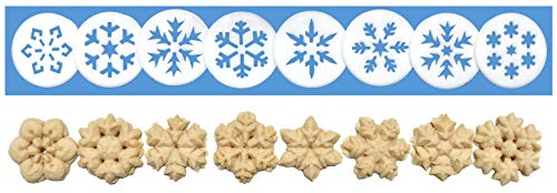 Snowflakes 8 Disk Set for Cookie Presses