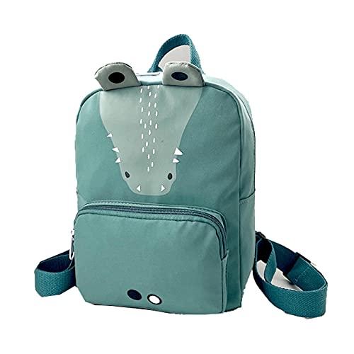 QINX Mochila infantil de lona con diseño de animales, ideal para la escuela
