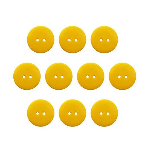 Seeking ROAM Buttons 2 Hole, 1 Inch, Resin, 10 Pieces, Yellow (Yellow)
