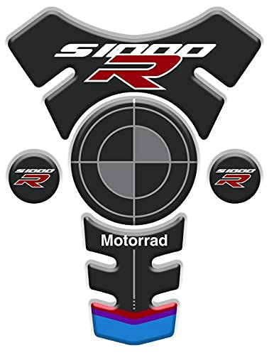 Tankpad - Protector adhesivo resinado con efecto 3D, compatible con moto BMW Motorrad S1000 R
