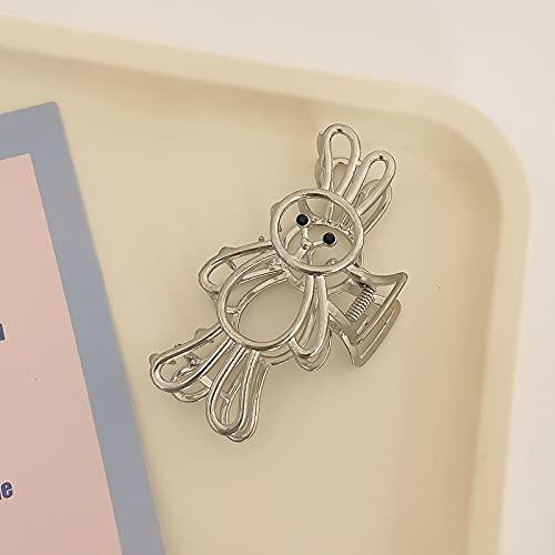 LANHUAN Bear Metal Tiburón Horquilla for Mujer Placa de baño Pinza de Pelo Cangrejo Clip de Cangrejo Conejo Dulce Accesorios for el Cabello (Color : 3)
