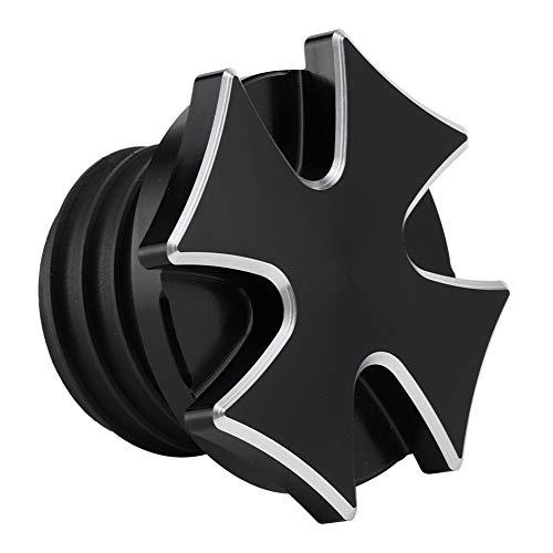 Tapa del Tanque de Combustible de la Motocicleta Motocicleta Café Racer CNC Aluminio Tornillo en Flush Moun Tanques de Gas de Combustible Cubierta Cap de Aceite Ajuste for Softail Sportster Negro