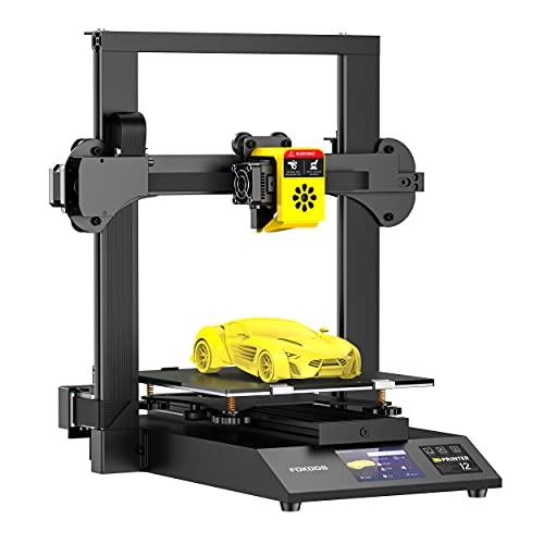 Fokoos Odin-5 F3 3D-Drucker, Faltbarer FDM 3D-Drucker mit Doppelter Z-Achse und Integriertem Extruder, Carborundum-Glasplattform, Φ1.75 mm