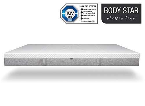 Body-Star Classic line - Die vielleicht Beste Matratze der Welt: 140x200cm, 7-Zonen Wendematratze, 2 Liegehärten (H2 & H3) für alle Körpertypen geeignet, Oeko-TEX 100, TÜV Zertifiziert