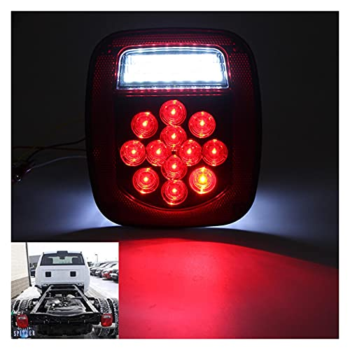 GZA Car Tail Stop Brake Light Turn Signal Lamp Reverse License Light 301927298999 39 LED for Jeep/Truck Trailer/Boat