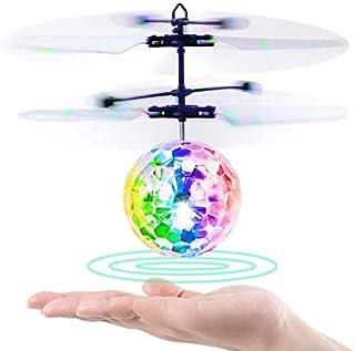 Baztoy Bolas Voladoras, RC Aviones Helicopteros Teledirigidos con Luces LED Intermitentes Mini Dron Regalos Juguete de inducción infrarroja para Niños 3 4 5 6 7 8 9 10 11 12 Años Navidad Cumpleaños