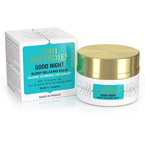 1001 Remedies Aromaterapia Locion Relajante para Dormir Bien- Crema de Noche Reduce la Ansiedad, el Estrés y Alivia la Migraña - 100% Natural con Lavanda y Aceites Esenciales - Adultos y Niños