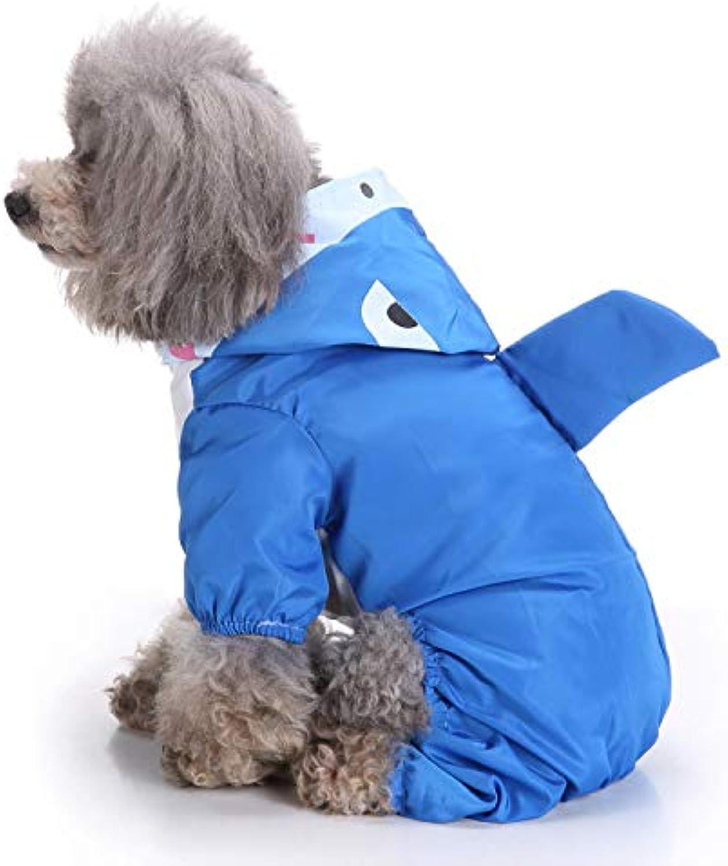 Dog Raincoat Clothes Animal Pet Clothes Raincoat CrossCountry Dog Raincoat Dog Poncho,bluee,XS