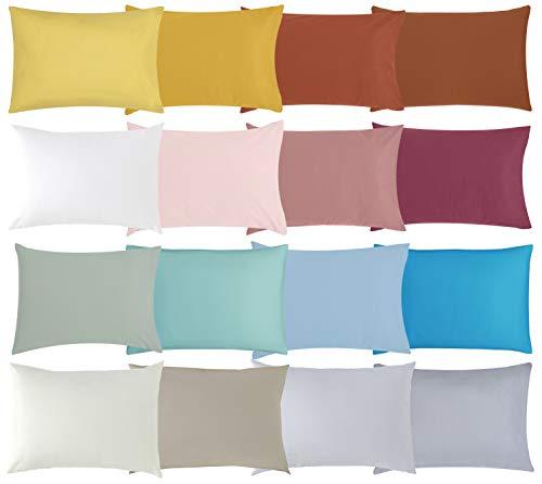 P'tit Basile - Lot x2 Taies d'oreiller 40x60 cm bébé - Coloris Blanc - 100% Coton Bio - Tissu certifié sans substance nocives par Oeko-tex - tissage serré pour plus de douceur