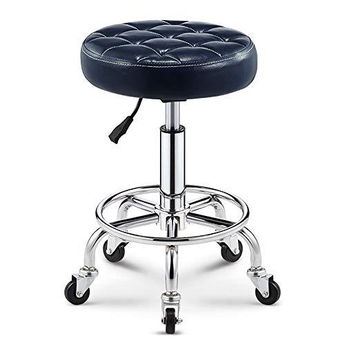 XIAOYAN Tabouret pneumatique rond avec 5 roulettes pour bar & Barber & Hair Beauty Shop 8 couleurs (h)