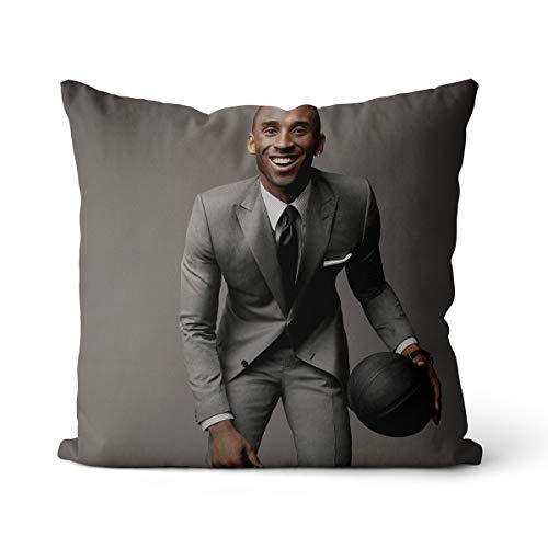 Kobe Bryant NBA's Best Defense Pillowcase Black Mamba No Puedo Pagar la Pelota Funda de Almohada Diseño de Cremallera Invisible 50x50cm