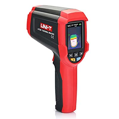 UNI-T UTi80 Handheld Infrared Thermal Camera with 80 x 60 IR Resolution, Fusion Image with Dual Laser Measurement, Range from -22 °F to 752 °F