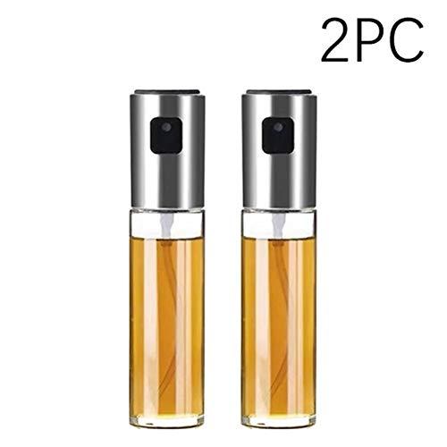 Lxxiulirzeu Küchen-Backen-Öl Koch Öl Spray Leere Flasche Essig Flasche Öl-Zufuhr Kochen Werkzeug Salat Grillkochglasöl Sprayer (Color : 2PC)