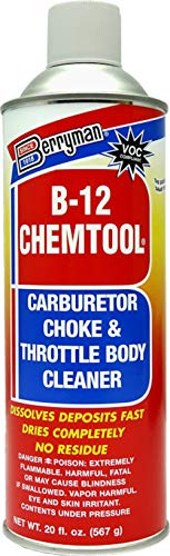 Berryman Products B-12 Chemtool Carburetor, Choke & Throttle Body Cleaner with Extension Tube [VOC Compliant In All 50 States], 20-ounce aerosol, 0120C