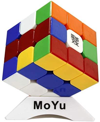 FunnyGoo MoYu WeiLong GTS2M GTS 2M V2M 3x3x3 Cubo mágico + un soporte de MoYu Logo Cube y un MoYu Logo Cube Bag