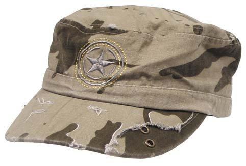 Army casquette combo «pT», en canevas, motif camouflage-vintage/sable)