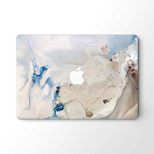 DowBier MacBook Decal Vinyl Skin Sticker Cover Anti-Scratch Decal For Apple Macbook (Macbook 2016&2017 PRO 13'/Inch A1706/1708, Natural Marble)