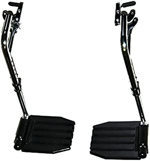 Invacare Corporation Wheelchair Hemi Elevating Legrest, Composite Foot Plates, WITHOUT HEEL LOOPS