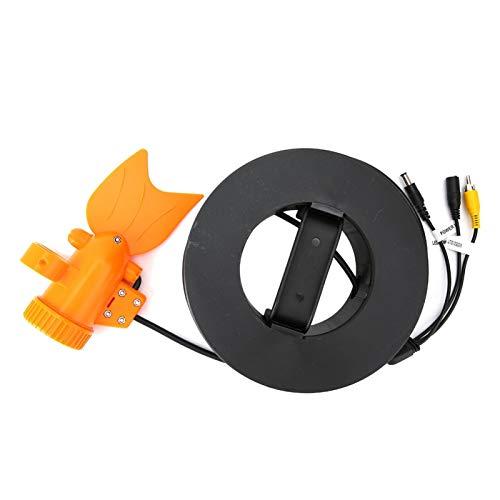 DAUERHAFT Videocamera per Pesca Subacquea Videocamera per Pesci a LED Modello di Pesce Design Adatto per Il Giorno e la Notte Ideale per Il monitoraggio(20 Meters Long)