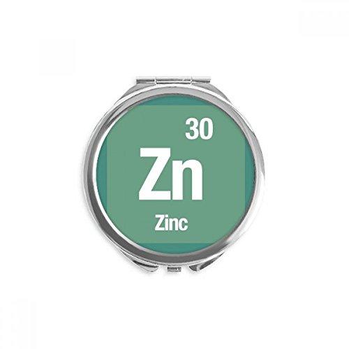 DIYthinker Zn Zink chemisches Element Wissenschaft Spiegel Runde bewegliche Handtasche Make-up 2.6 Zoll x 2.4 Zoll x 0.3 Zoll Mehrfarbig