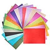 200 Sheets 20 Multicolor Tissue Paper Bulk Gift Wrapping Tissue Paper Decorative Art Rainbow Tissue Paper 12' x 8.4' for Art Craft Floral Birthday Party Festival Tissue Paper