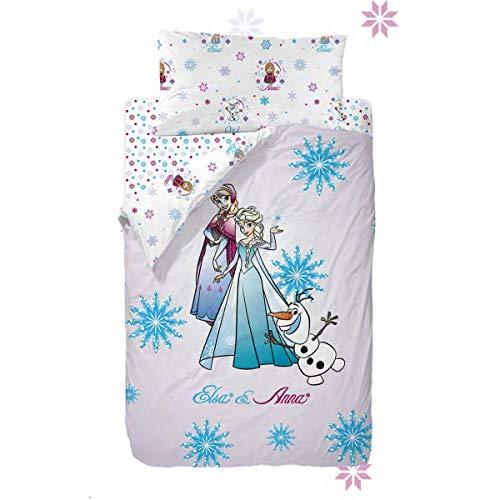 Disney Frozen Strong Heart Saco Nórdico de 2 Piezas para Cama de 90, Cotton, Multicolor