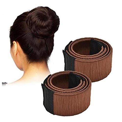 Paquet De 2 Fashion Coiffure Donut Chignon Maker Parfait Pour Les Longs Et Épais Cheveux - Perruque De Cheveux - Twist Française Bun - Bun Donut Piece Cheveux Bob Maker