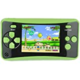 HigoKids Handheld Game Console for Kids Portable Retro Video Game Player Built-in 182 Classic Games 2.5 inches LCD Screen Family Recreation Arcade Gaming System Birthday Present for Children-Green
